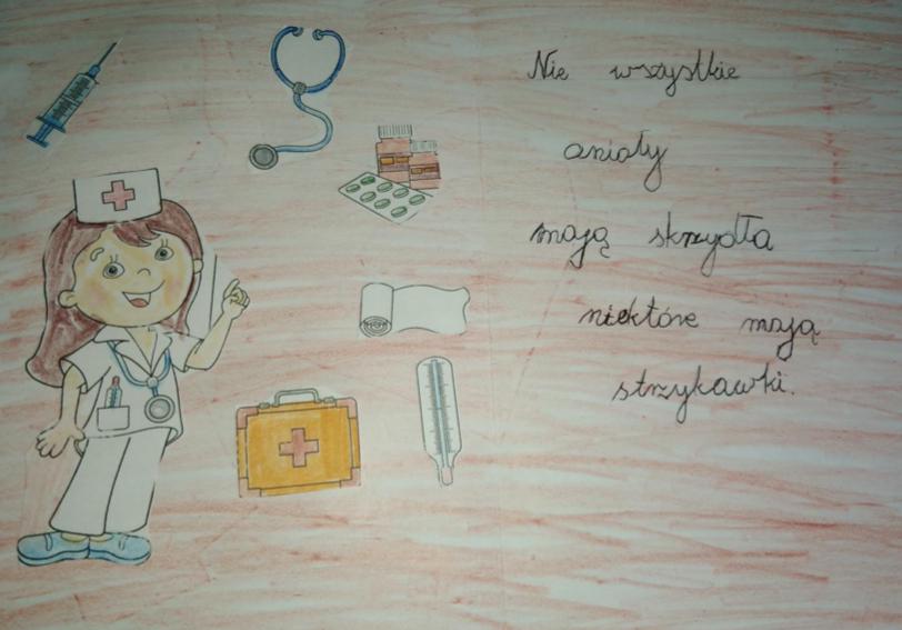 """Akcja szkolna """"Wdzięczni Pielęgniarkom"""""""